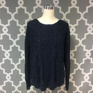 Navy Blue Mossimo Knit Sweater